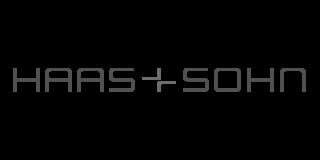 haas und sohn logo schwarz Kamin- Pelletofen weiss